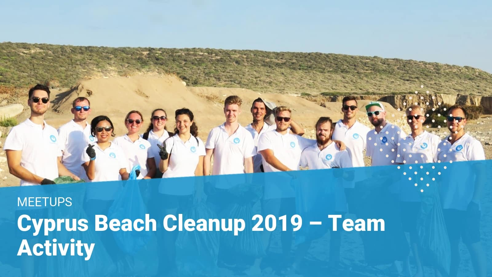 beach cleanup event at Akamas turtle nesting sites