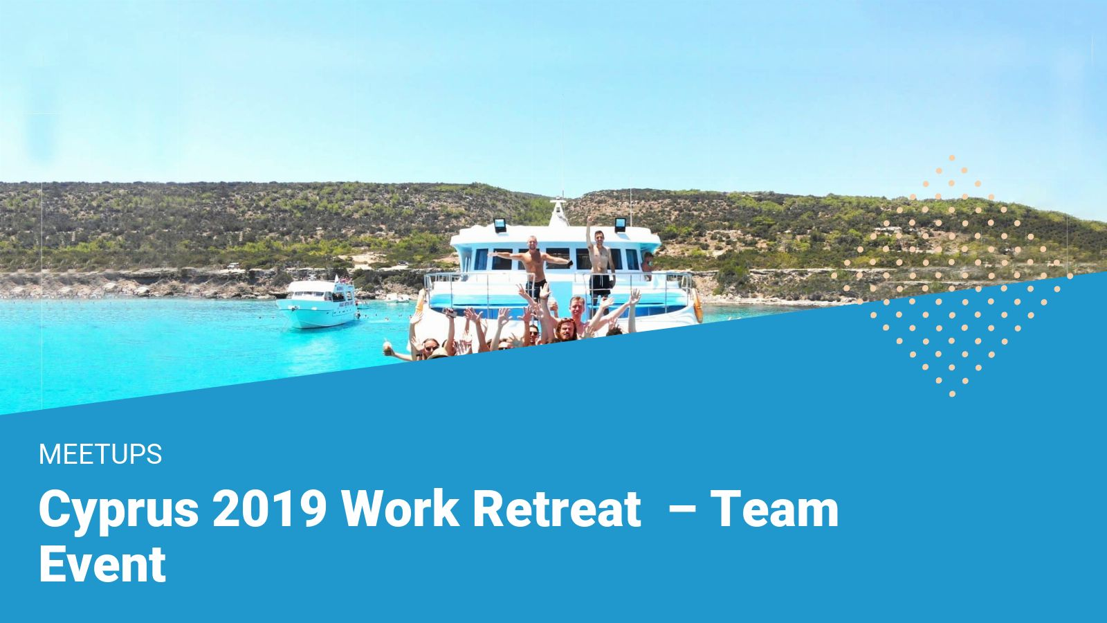 financer team boat trip work retrear