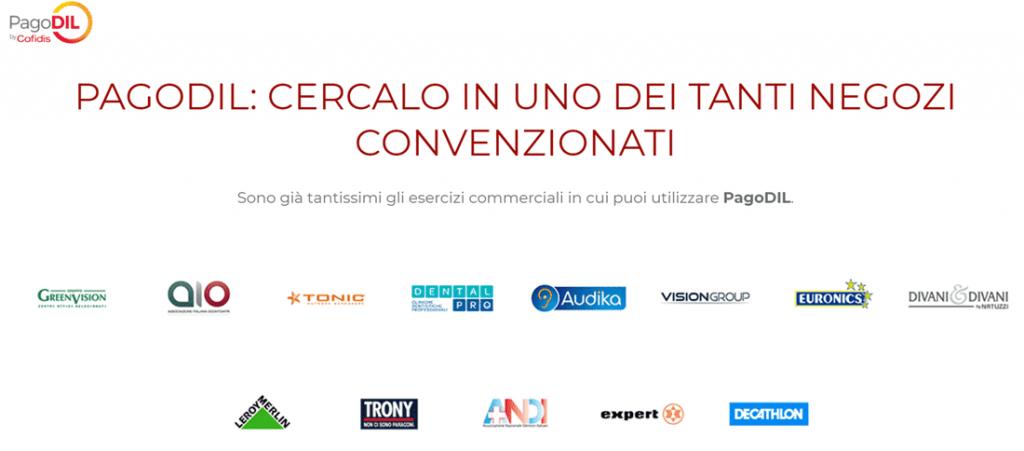 esercizi commerciali convenzionati Cofidis PagoDIL - Financer.com Italia