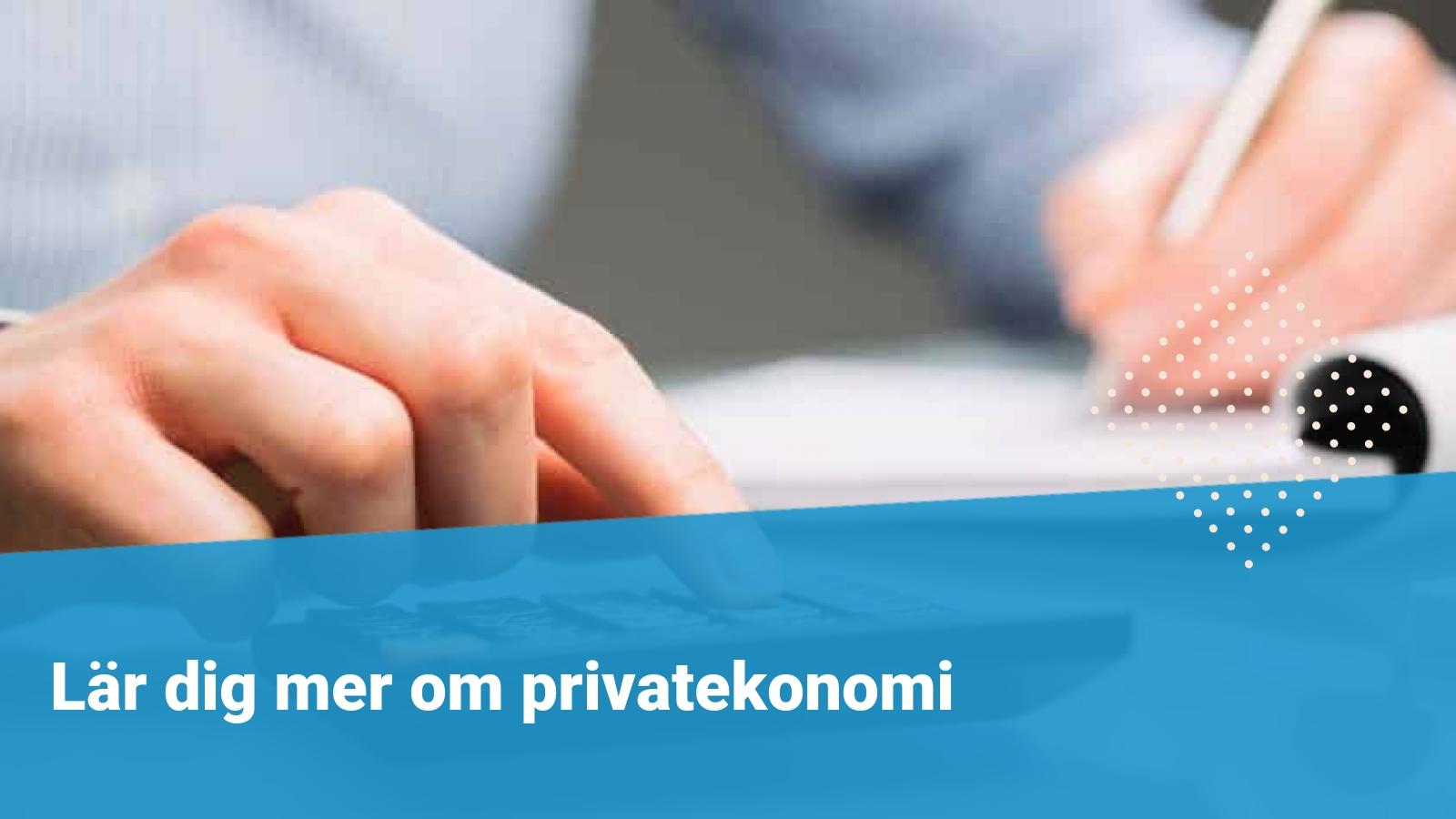 privatekonomi budget