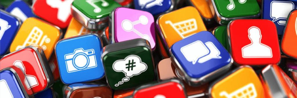 samling ikoner med bra ekonomi appar