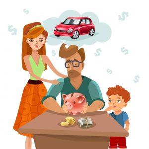 familj illustration sparande budget