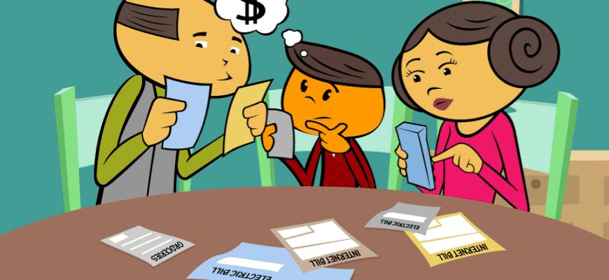 Hushållsbudget illustration