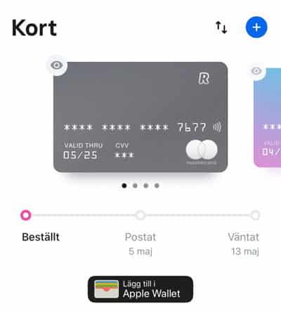 Beställ ditt Revolut-kort direkt i appen