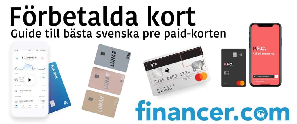 Guide till bästa förbetalda korten (Sverige)