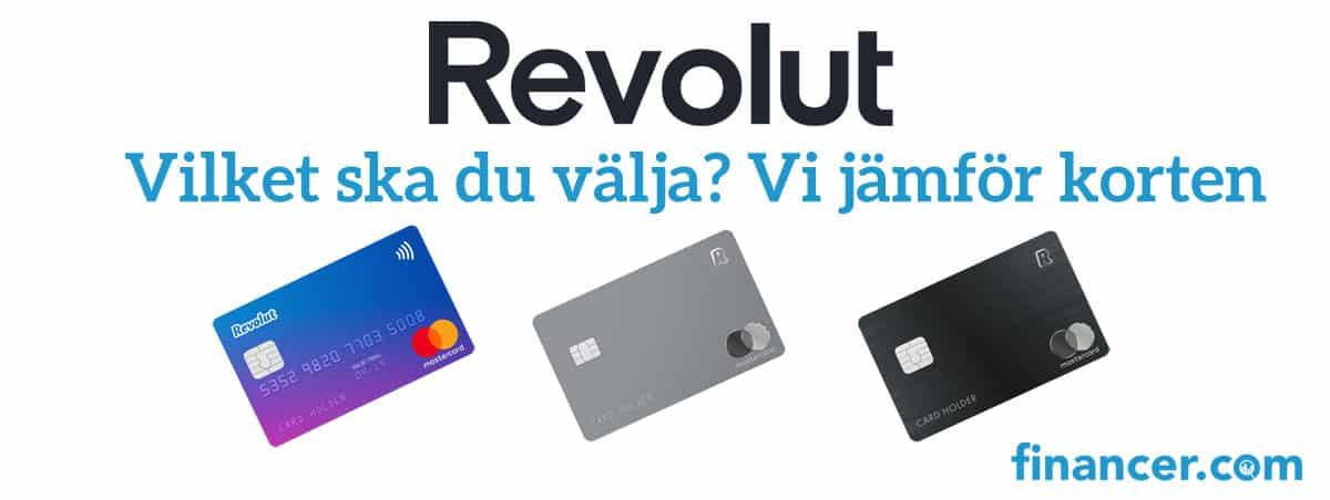 Vi jämfört korten från Revolut