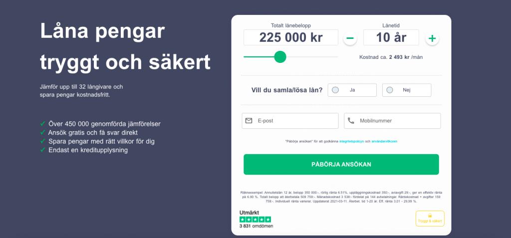 Printscreen från enklare.se