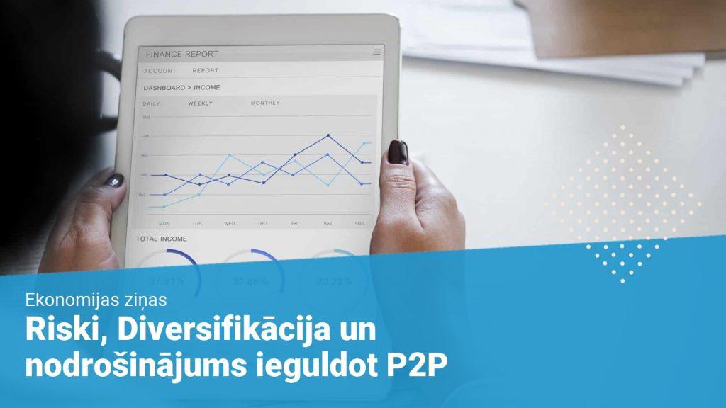 Riski, Diversifikācija un nodrošinājums ieguldot P2P