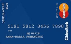 Ідея Банк Card Blanche Blue