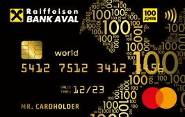 """Аваль Кредитка """"100 днів"""""""