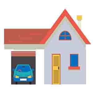 будинок з гаражем