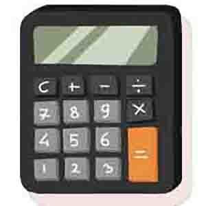 чорний калькулятор з кнопками