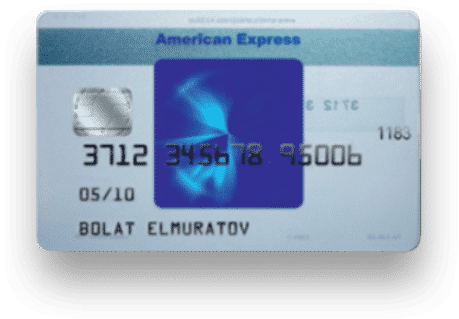 Halyk Bank American Express Blue Card