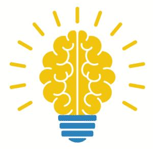 мозък и електрическа крушка - идеи за мисленето