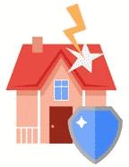 къща, защитена от щит