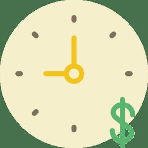 часовник с доларов знак