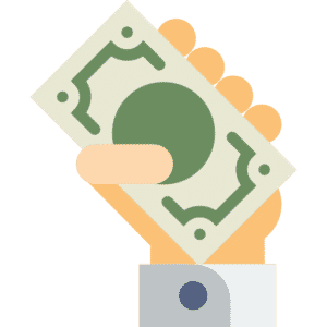 ръка плаща с банкноти