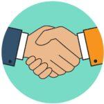 ръкостискане - кредит без поръчители за лоялни клиенти