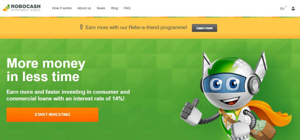 Главна страница на Робокеш - регистрация
