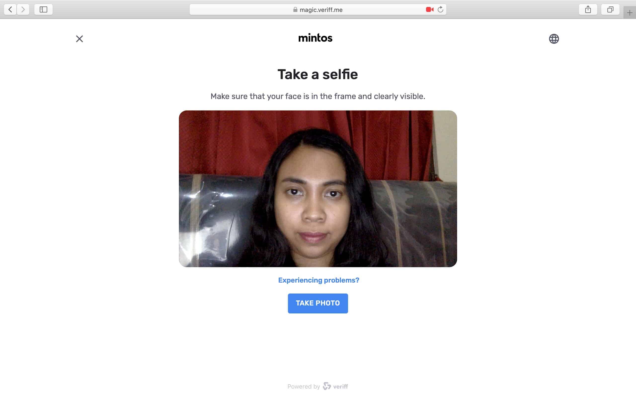 Verifikasi Selfie Mintos
