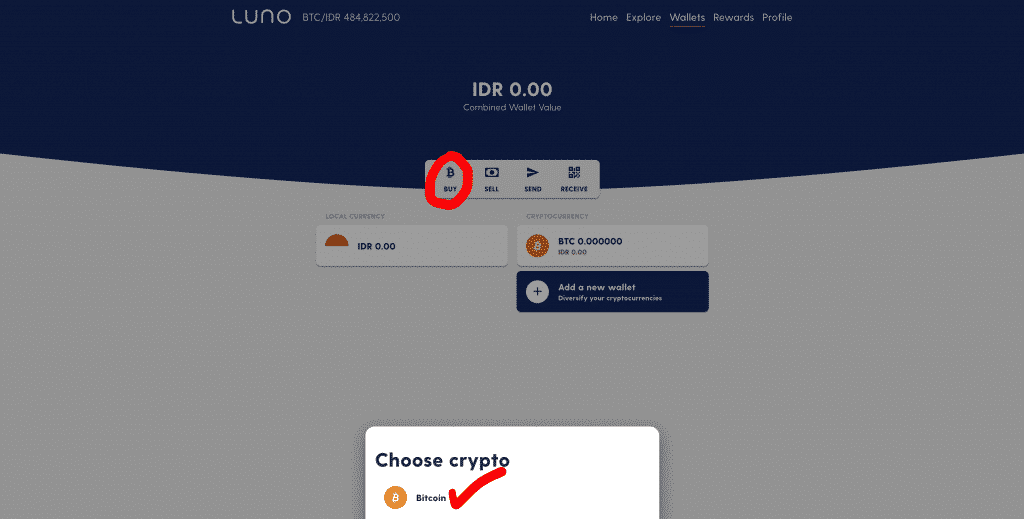 Cara Beli Bitcoin di Luno