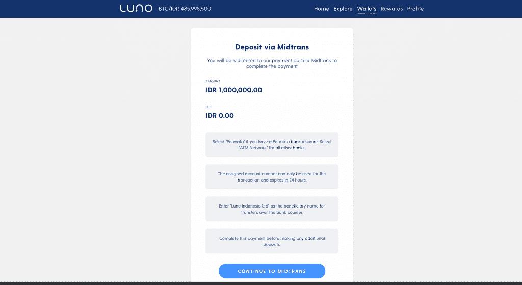 Pembayaran Midtrans Luno