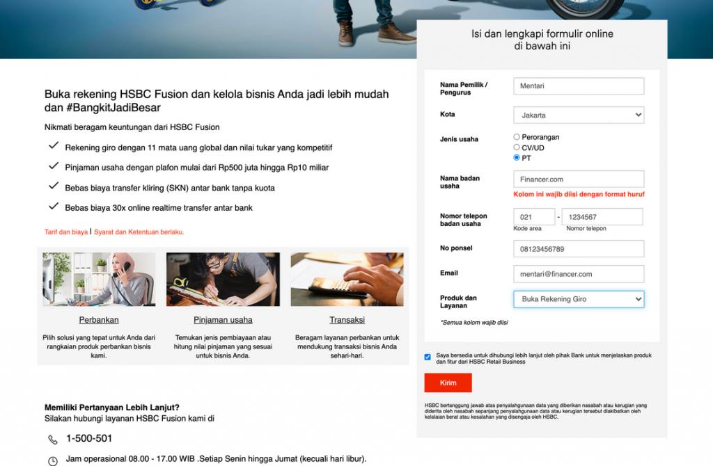 Formulir HSBC Fusion