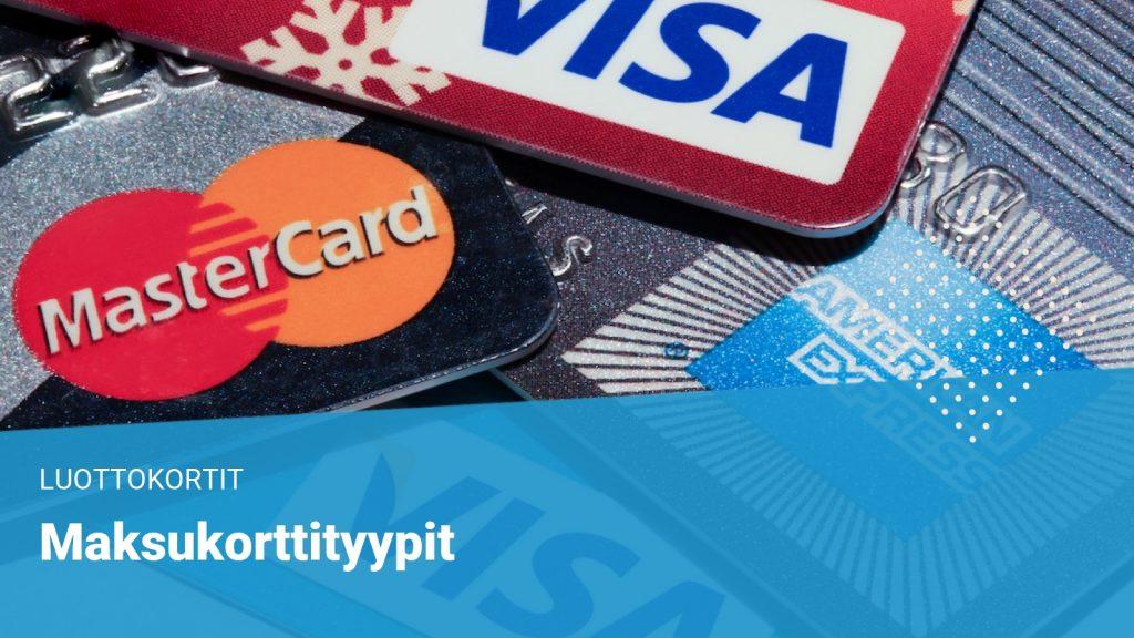 maksukorttityypit visa, mastercard, american express, diners club