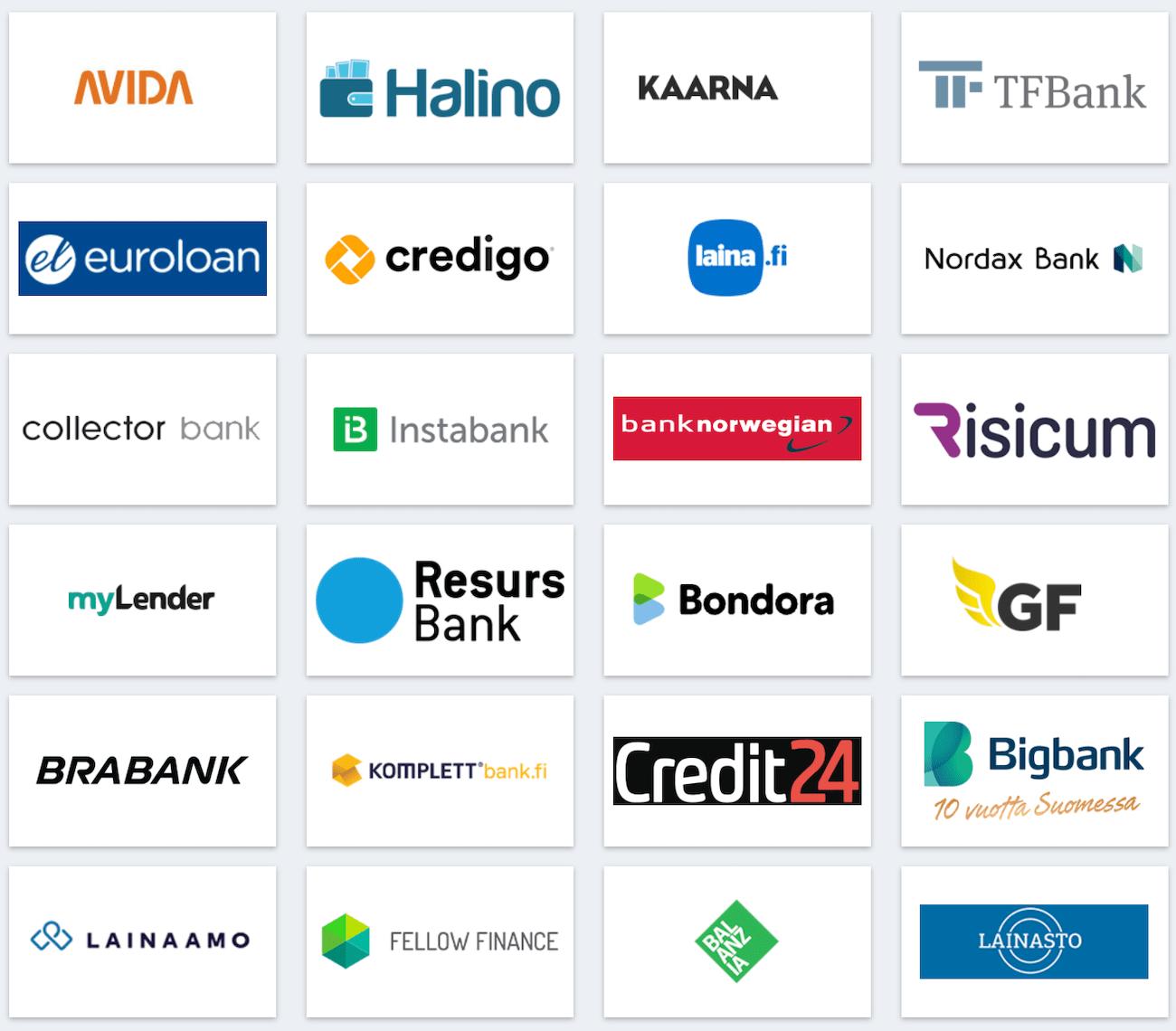 rahoitu yhteistyökumppanit ja pankit