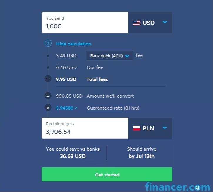 transferwise opłaty