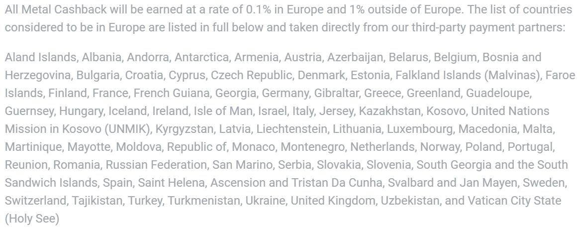 """Lande som betegnes """"indenfor Europa"""""""