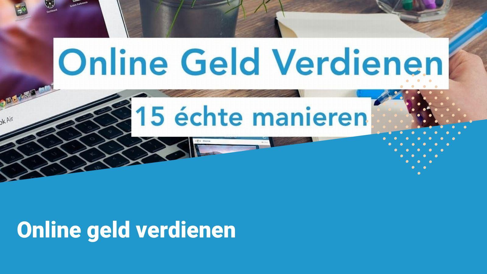 online geld verdienen 2021