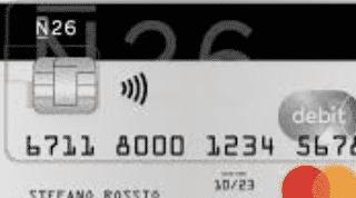 N26 Tarjeta de débito
