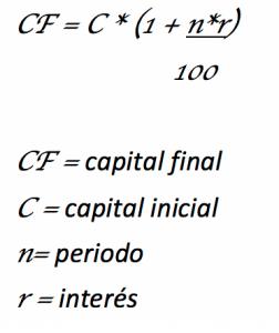 formula interes simple