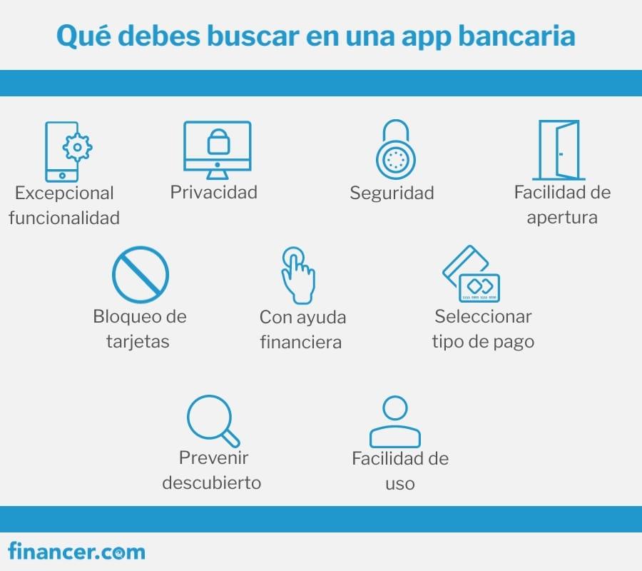 que debes buscar en la app de la cuenta bancaria
