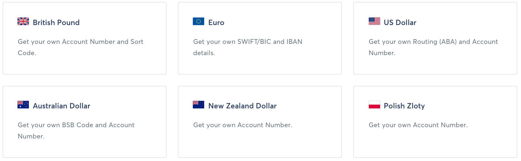 6 cuentas bancarias locales