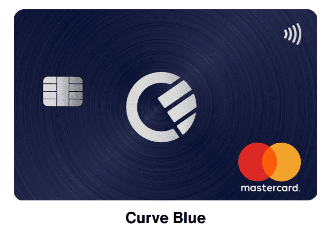 tarjeta blue curve
