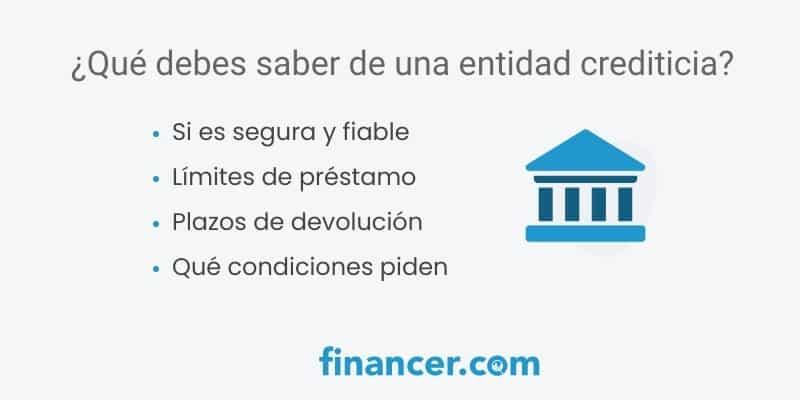 como detectar una entidad financiera segura
