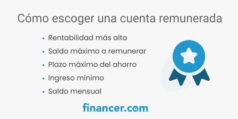 como escoger una cuenta remunerada