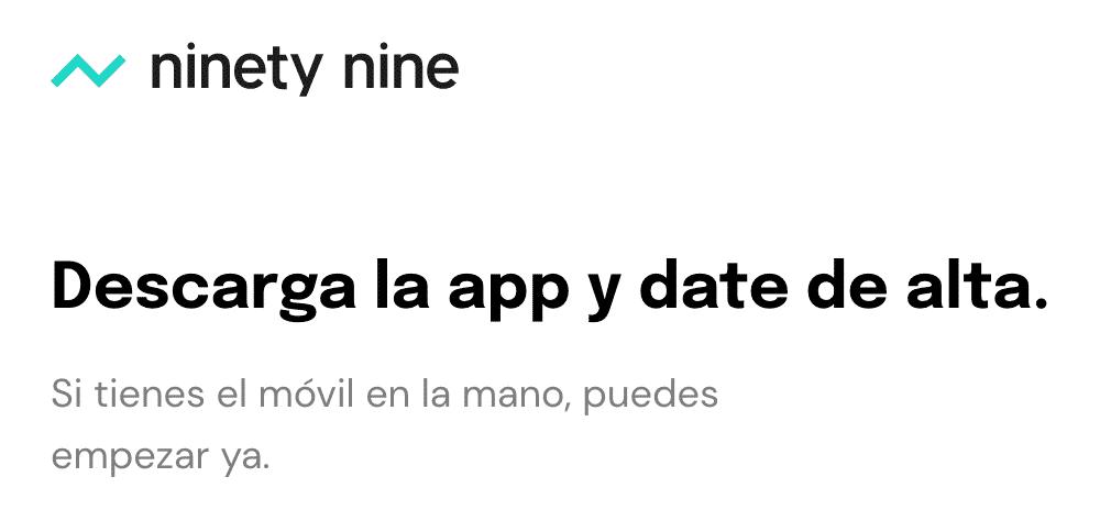 descarga la app en ninety nine