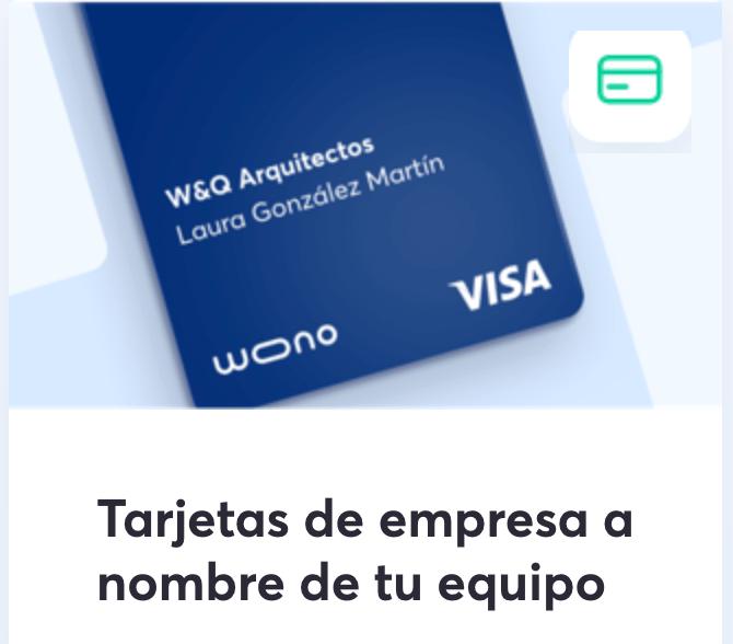tarjeta de empresa wono santander